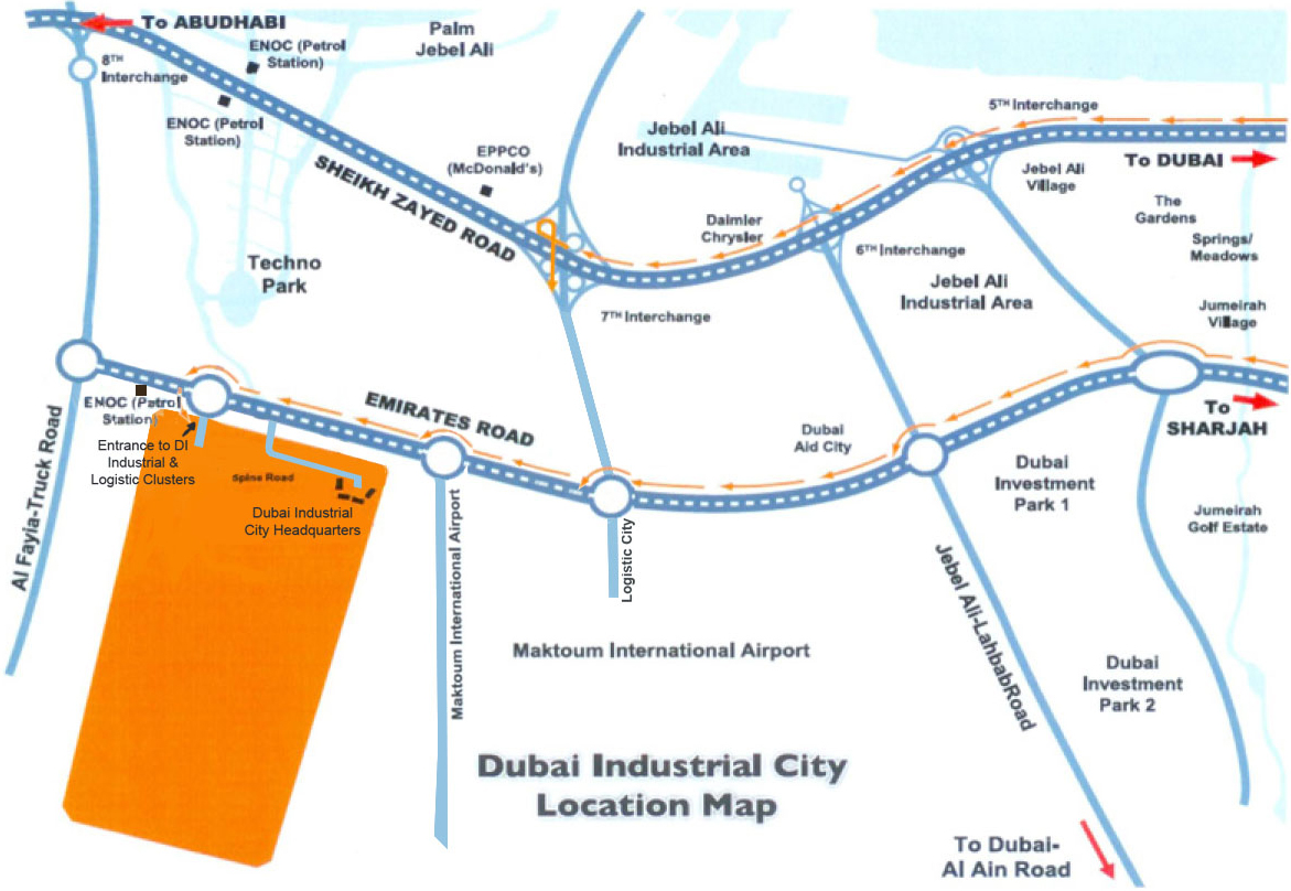 Project Location Sahara Meadows in Dubai Industrial City Dubai